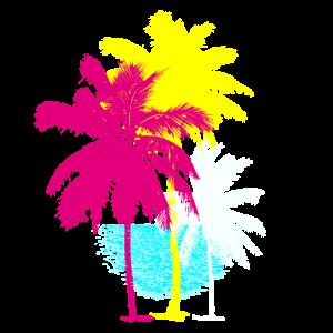Palmen Florida Miami Retro Karibik Sonne Hawaii ur