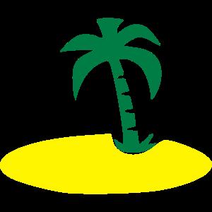 Insel mit Palme