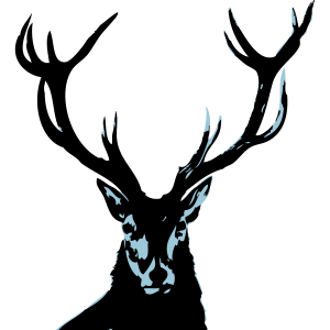 Hirsch blau