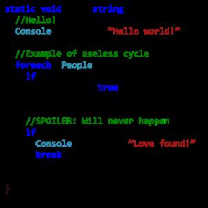 Liebe durch einen C # Programmierer gesehen