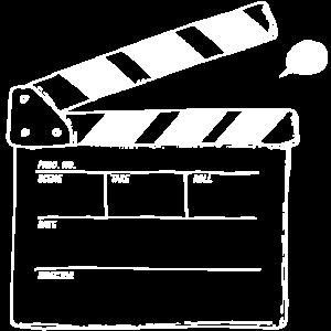Filmklappe weiß