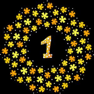 Erster Geburtstag Blumen - First Birthday Flowers