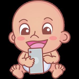 Baby mit Smartphone