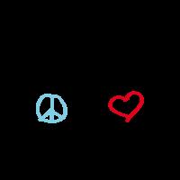 "LOVEshirt ""Peace, love & music"""