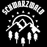 Schönes Schwarzwald, Berge und Tannen Motiv