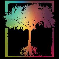 Mutter Natur - Rahmen Wurzeln Baum Lebensbaum