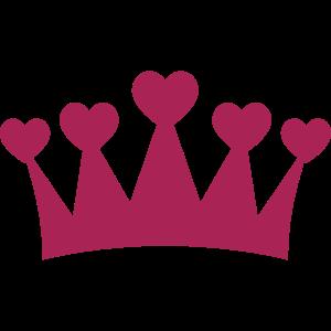 Krone mit Herzen Shirt - Kronen T-Shirt