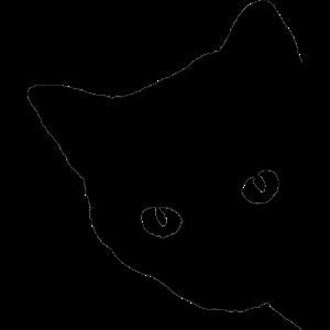 Katzen Silhouette Katzenaugen Starren Geschenk