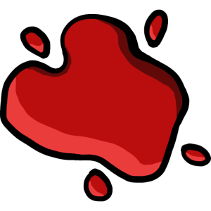 Ketchup-Fleck Humor trompe l'oeil