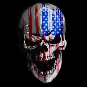 American Skull - Cooles, provokatives Skull-Shirt