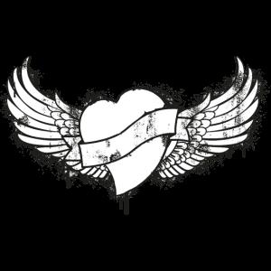 Tattoo geflügelten Herzen