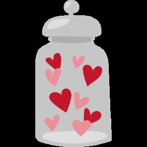 Liebes Süßigkeiten Glas