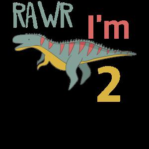 Zum 2 Geburtstag für Jungs Mädchen Ceratosaurus