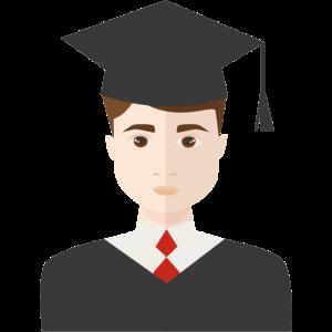 Absolvent einer Universität