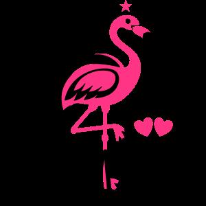 Braut Party JGA Flamingo Eheringe Diamant Herzen