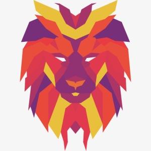 VIbrant Lion Head