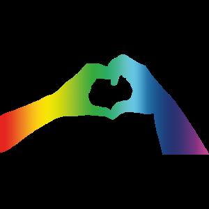 Pride Gay Lesbian Hände Herz Hands Hearts Love