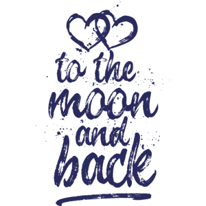 Love, To the moon and back - weiß