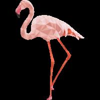 Flamingo Low Poly Art