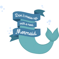 Dont mess up with a mermaid Svafe