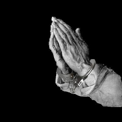Die gefesselten Hände - Eine neue Auflage der betenden Hände von Albrecht Dürer. - Polizei,Handefesseln,Betende hände,Dürer,Kunst