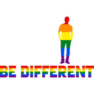 Gay - Rainbow - Be Different - EN