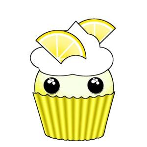 Kawaii lemon cupcake