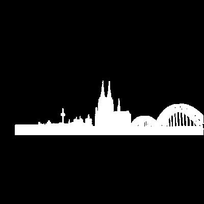 Köln-Skyline - Das klassische Design für alle, die Köln im Herzen tragen. - kölle,colonia,Cologne,kölner dom,Köln,Rheinland,kölsch,dom,nrw,Skyline