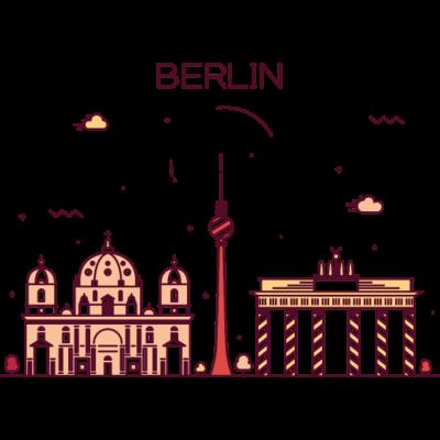 Berlin, Deutschland -  - freedesigns17,coole,Wolkenkratzer,Urban,Trip,Tower,Stadtbild,Stadt,Reise,Panorama,Nation,Metropole,Länder,Karte,Horizont,Hochhaus,Hipster,Europa,Deutschland,Comic,Blick,Berlin,Architektur