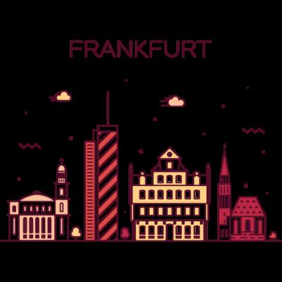 Frankfurt, Deutschland -  - freedesigns17,coole,Wolkenkratzer,Urban,Trip,Tower,Stadtbild,Stadt,Reise,Panorama,Nation,Metropole,Länder,Karte,Horizont,Hochhaus,Hipster,Frankfurt,Europa,Deutschland,Comic,Blick,Architektur