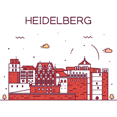 Heidelberg, Deutschland -  - freedesigns17,coole,Wolkenkratzer,Urban,Trip,Tower,Stadtbild,Stadt,Reise,Panorama,Nation,Metropole,Länder,Karte,Horizont,Hochhaus,Hipster,Heidelberg,Europa,Deutschland,Comic,Blick,Architektur