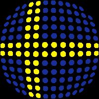 Sweden flag (Dotted)