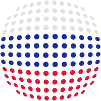 Russia flag (Dotted)