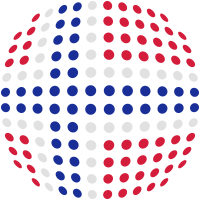 Norway flag (Dotted)
