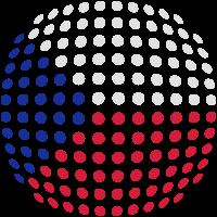 Czech flag (Dotted)