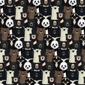Bären der Welt Muster