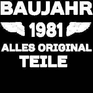 Baujahr 1981 - Alle Originalteile