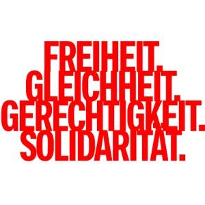 Freiheit Gleichheit Gerechtigkeit Solidarität