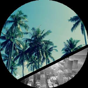 Strand und Stadt