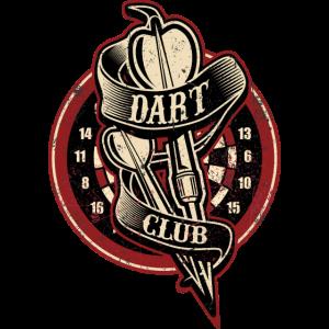 Dart Club - Dart T-Shirts RAHMENLOS - Sport Club Verein Geschenk