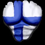 Finnland Flagge Gerippt Muskeln