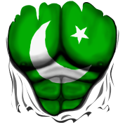 Pakistan Flag Ripped Muscles, six pack, chest t-shirt