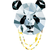 Panda 3D Polygon - Comic