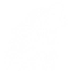 Tribal Wolf Howl White