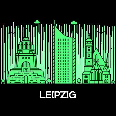 Leipzig, Deutschland -  - freedesigns17,Wolkenkratzer,Urban,Tower,Stadtbild,Silhouette,Reise,Panorama,Nation,Metropole,Länder,Leipzig,Horizont,Hochhaus,Europa,Deutschland,Blick,Architektur