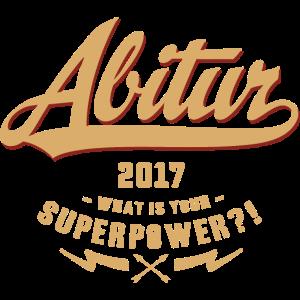 Abi 2017 Superpower - RAHMENLOS Abschluss Matura