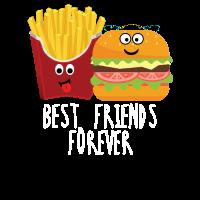 Pommes und Burger Best friends forever