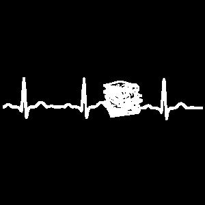 EKG HERZSCHLAG BÜCHER LERNEN STUDIUM White