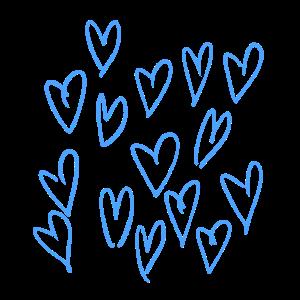 Die blauen Herzen <3
