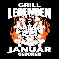 Januar - Geburtstag - Grill - Legende - DE
